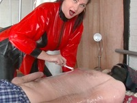 Red Rubber Queen Pt1 My New Slave