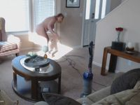 Vacuuming In The Nude