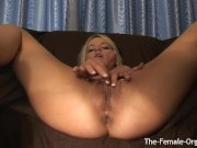 Horny Blonde Has Multiple Squirting Orgasms From First Time with Hitachi